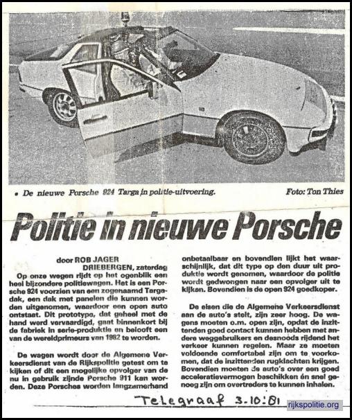 De Telegraaf 3 oktober 1981.