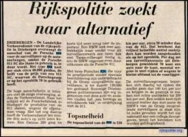 Oud krantenartikel over de Porsche 924 targa.