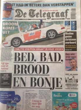 De Telegraaf vrijdag 17 april 2015